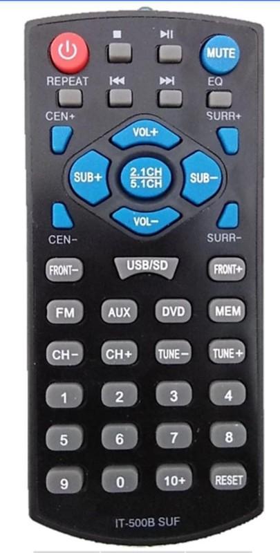 EVolveTech Remote compatible for IT-500B SUF Home theater System Intex home theater remote Remote Controller(Black)