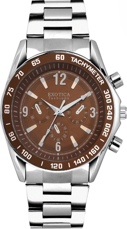 Exotica Fashions EFG-S-01-ST-Brown-NS New Series Analog Watch - For Men