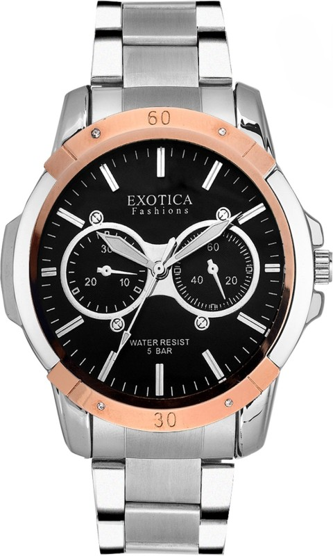 Exotica Fashions EFG-05-TT-ST-DM-B-New New Series Analog Watch - For Men