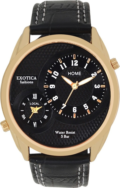 Exotica Fashions EF-72-Dual-LS-Gold-Black Basic Analog Watch - For Men