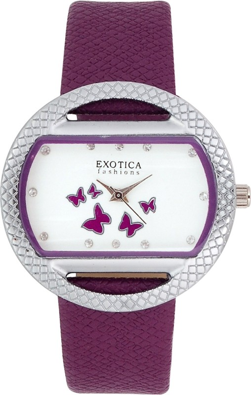 Exotica Fashions EFL-09-Purple Basic Analog Watch - For Women