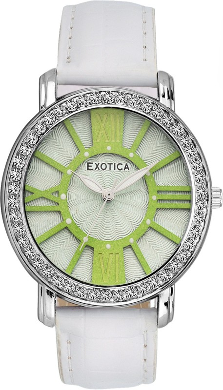 Exotica Fashions EF-70-Green-White-LD-New New Series Analog Watch - For Women