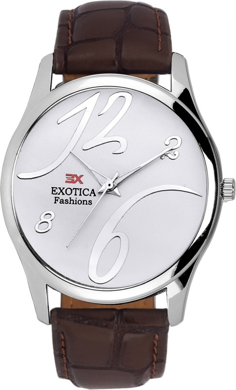 Exotica Fashions EFGM-20-Dark-BROWN-NS Silver New Series Analog Watch - For Men
