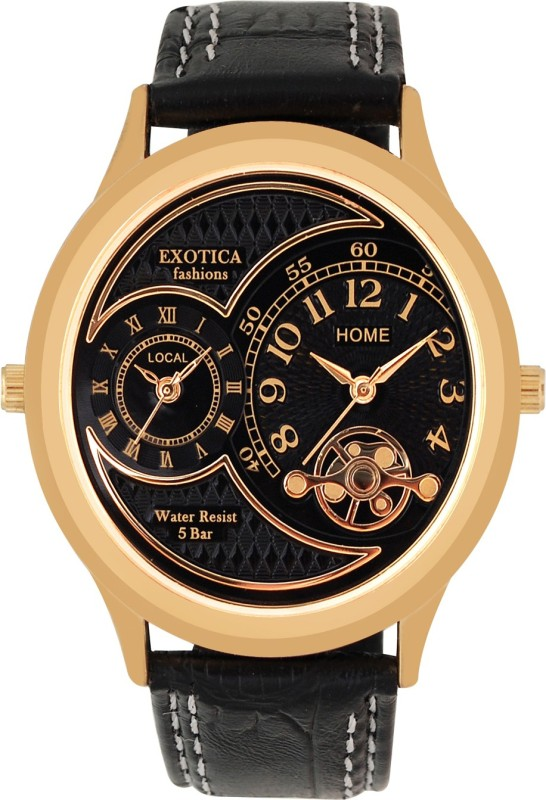 Exotica Fashions EF-77-Dual-LS-Gold-Black Basic Analog Watch - For Men