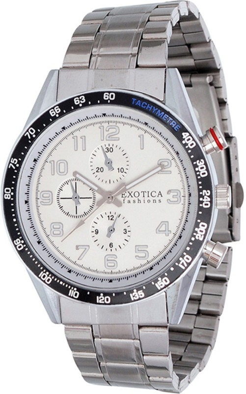 Exotica Fashions EFG-S-07-St-White Special Series Analog Watch - For Men