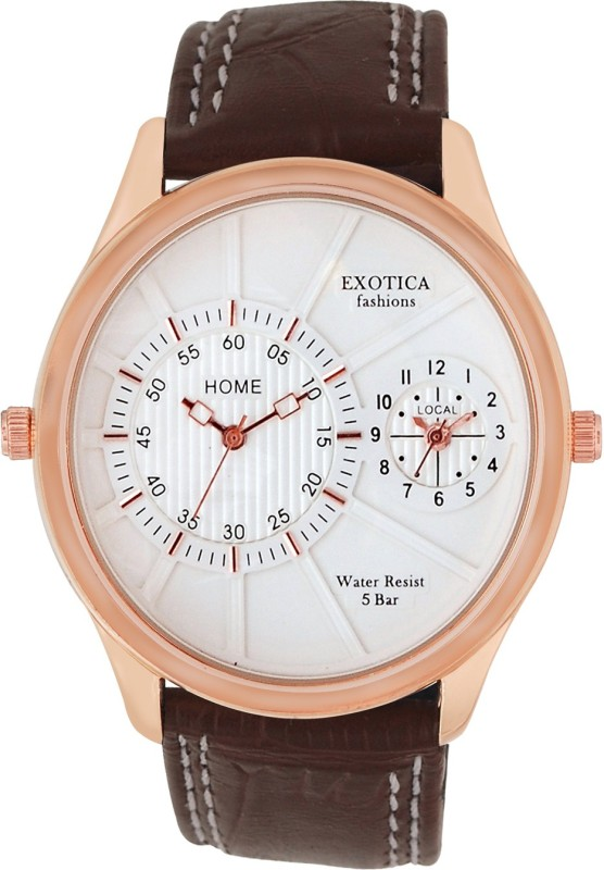 Exotica Fashions EF-71-Dual-Rose-Gold-BRDS-W Basic Analog Watch - For Men