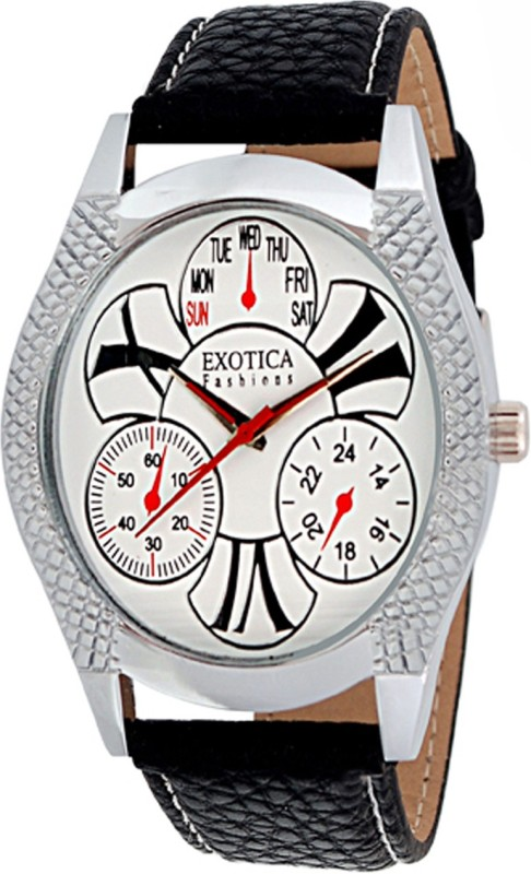 Exotica Fashions EFG-26-White Analog Watch - For Men