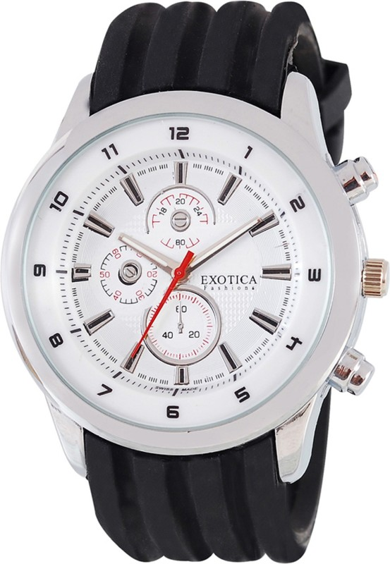 Exotica Fashions EFG-15-White Analog Watch