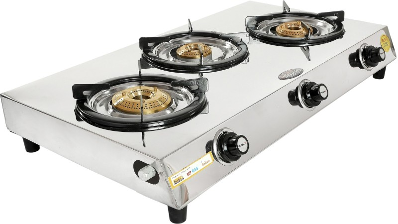 SAFELINE Stainless Steel Manual Gas Stove(3 Burners)