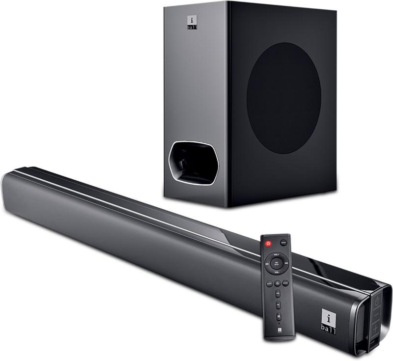 iBall Cinebar 200DD Dolby Digital 120 W Bluetooth Soundbar(Black, 2.1 Channel)