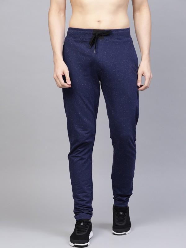 HRX by Hrithik Roshan Self Design Men Dark Blue Track Pants