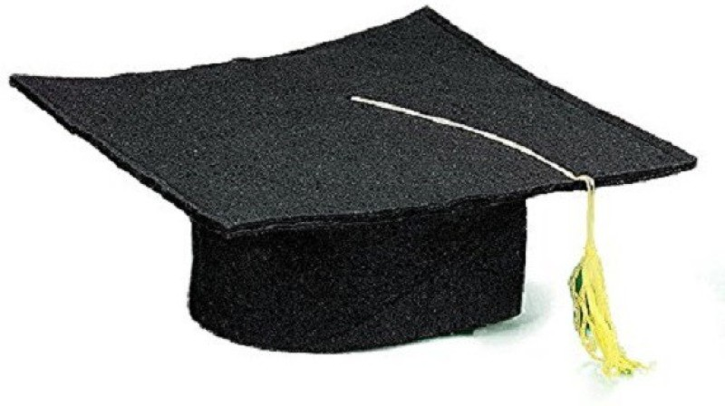 Montex Black Graduation Cap(Pack of 1)