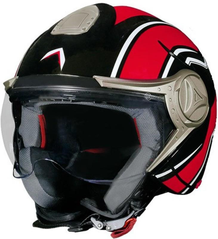 Mavox OX 11D2B Motorbike Helmet(Brick Red, Black)