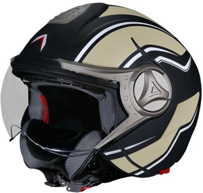 Mavox OX 11.D2B Motorbike Helmet(Sahara Beige, Black)