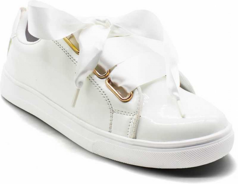 Carrito Women's/Girls Trendy Fashionable Comfortable Lightweight Partywear Casual wear Lace-Up shoe Sneakers For Women(White)
