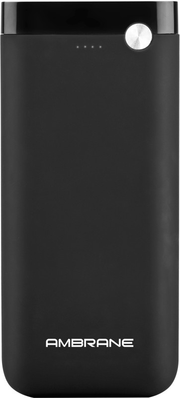 Ambrane 20000 mAh Power Bank (Fast Charging, 10 W)(Black, Lithium Polymer)