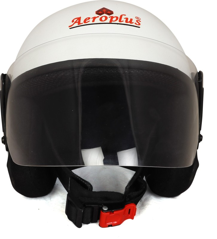 AEROPLUS WHITE GLOSSY Half Face Helmet for WOMEN Motorbike Helmet(WHITE GLOSSY)