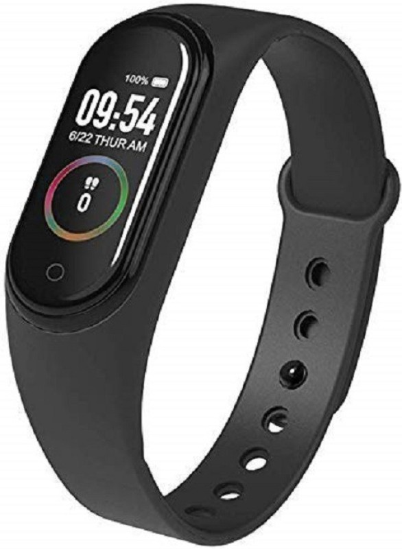 HEDRIX M4 Touch Smart Band Watch(Black Strap, Size : FREE)
