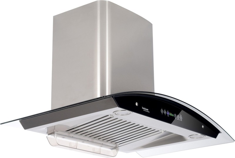 Hindware Cleo 90 Auto Clean Wall Mounted Chimney(Brush Sliver/Inox 1200 CMH/m3/h)