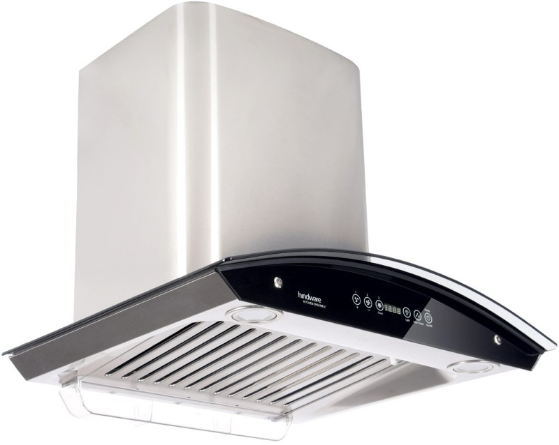 Hindware Cleo 60 Auto Clean Wall Mounted Chimney(Brushed Silver/Inox 1200 CMH/m3/h)