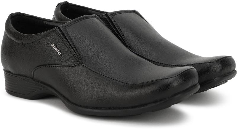 Bata Quin Two Slip On For Men(Black)
