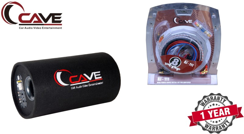 Cave RJ-308 WS-1222X Car Bass Tube With 12Inch Subwoofer Amplifier Subwoofer(Powered , RMS Power: 300 W)