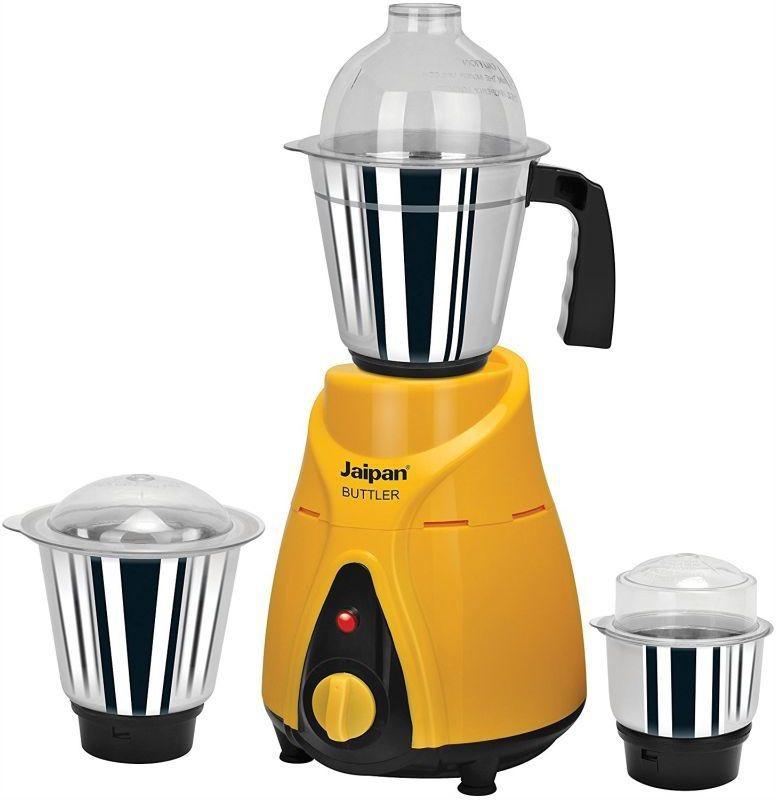 Jaipan Butler Mixer 750 W JPBM0009 750 Juicer Mixer Grinder(Yellow, Black, 3 Jars)