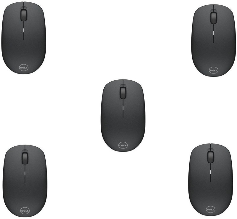 Dell WM126 Wireless Optical Mouse (USB, Black) (Pack of 5) Wireless Optical Mouse(USB 2.0, Black)