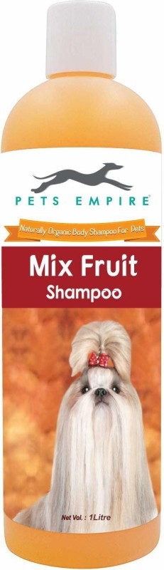 Pets Empire Naturally Organic Body Shampoo for Pets (Mix Fruit, 1000 ML) Hypoallergenic, Anti-microbial, Conditioning, Anti-fungal, Anti-parasitic, Flea and Tick, Anti-dandruff, Allergy Relief, Whitening and Color Enhancing, Anti-itching, Hypoallergenic Mix Fruit Dog Shampoo(1000 ml)