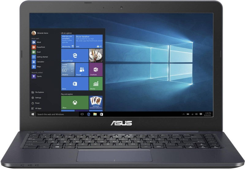 Asus L402 Celeron Dual Core - (4 GB/32 GB EMMC Storage/Windows 10) WH02-OFCE Laptop(14 inch, Blue, With MS Office)