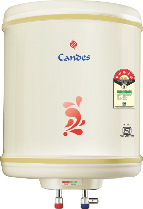 Candes 6 L Storage Water Geyser (6METAL, Ivroy)
