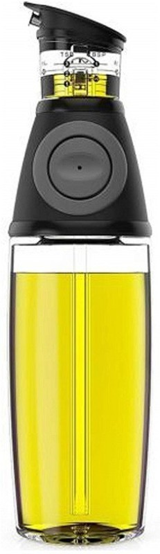 JAVIA BROTHERS Javia Brothers Press and Measure Vinegar Dispenser Bottle (500ml) - 500 ml Glass Oil Container, Utility Box, Milk Container(Grey)