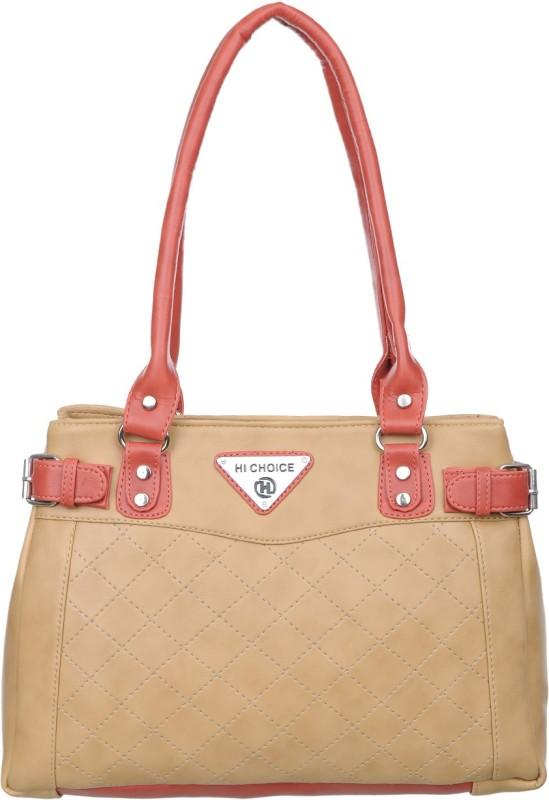 HI CHOICE FASHION Women Beige, Red Hand-held Bag