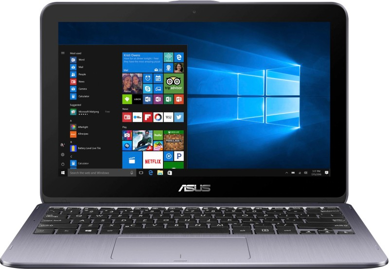 Asus VivoBook Flip Celeron Dual Core - (4 GB/500 GB HDD/Windows 10 Home) TP203NA-WB01T Laptop(11.6 inch, Star Gray)