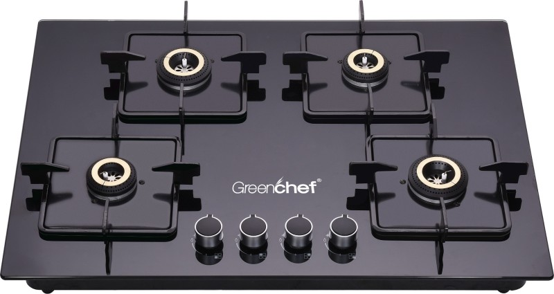 Greenchef Kelvin Glass Automatic Gas Stove(4 Burners)