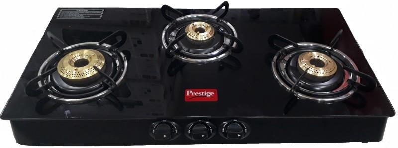 Prestige Marvel GTM 03 Glass, Steel Manual Gas Stove(3 Burners)