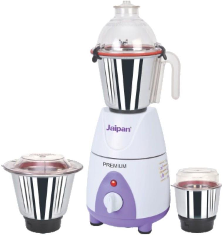 Jaipan Premium 750 Watt JPPR0039 750 Mixer Grinder(White, Purple, 3 Jars)
