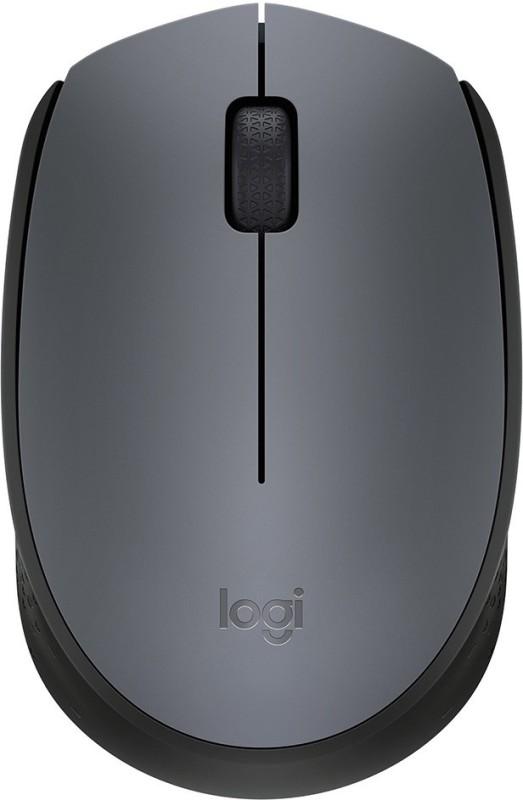 Logitech M-171 Wireless Optical Mouse(USB, Black, Grey)
