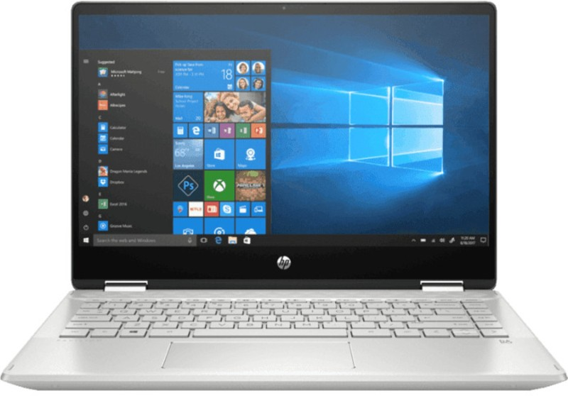 HP Pavilion x360 14 Core i3 10th Gen - (4 GB/256 GB SSD/Windows 10 Home) 14-dh1007TU 2 in 1 Laptop(14 inch, Natural Silver, 1.59 kg, With MS Office)