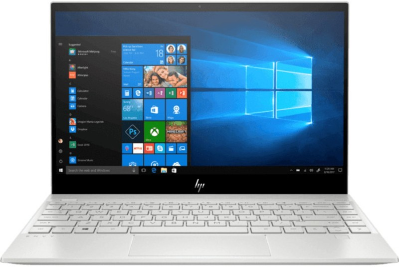 HP Envy 13 Core i5 10th Gen - (8 GB/256 GB SSD/Windows 10 Home) 13-aq1014TU Thin and Light Laptop(13.3 inch, Natural Silver, 1.2 kg, With MS Office)