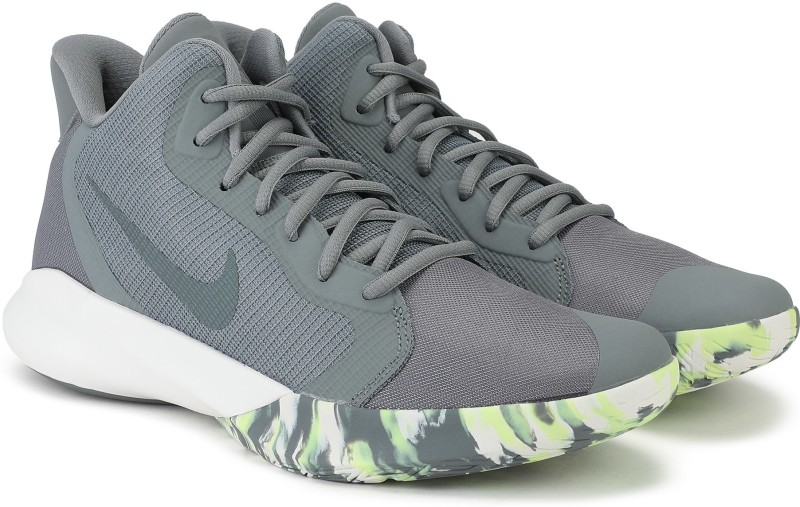 Nike PRECISION III Basketball Shoe For Men(Grey)