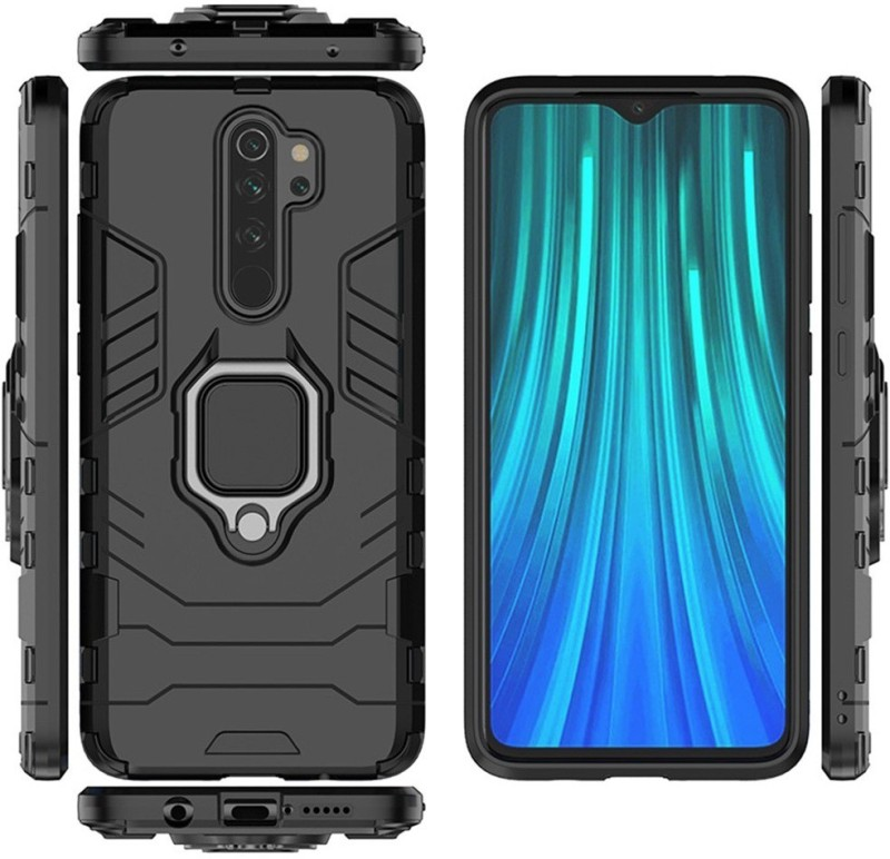 Wellpoint Back Cover for MI Redmi Note 8 Pro, Plain, Case, Cover(Black, Grip Case)