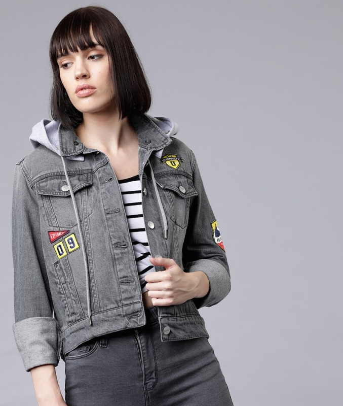 TOKYO TALKIES Full Sleeve Washed Women Jacket