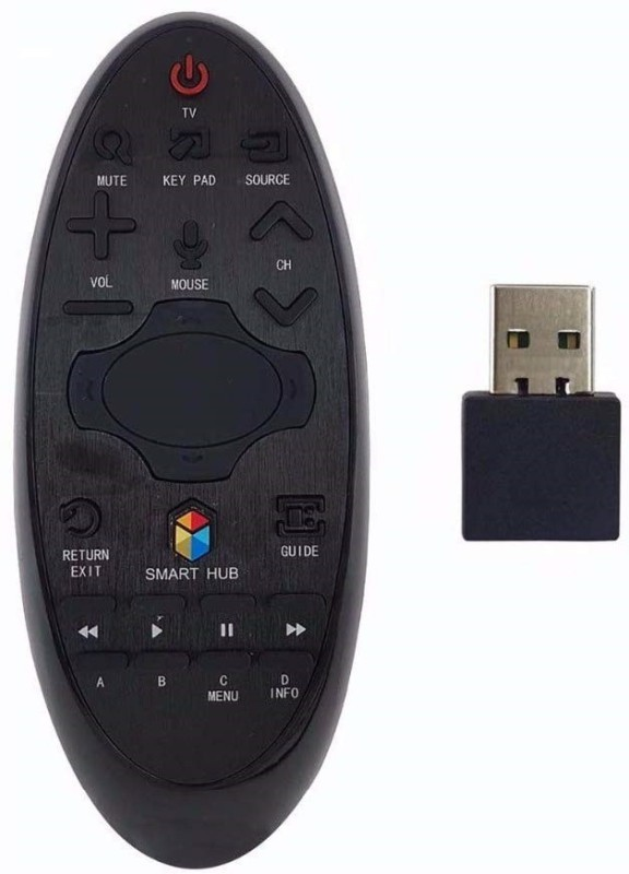 Pooja COMPATIBLE REMOTE FOR SAMSUNG SMART LED MOUSE WITH DONGLE SAMSUNG SMART TV LED /LCD Remote Controller(Black)