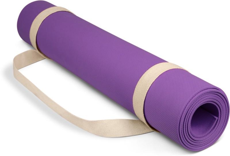 Adrenex by Flipkart Anti Skid Yoga Mat with Strap, Purple 6 mm Yoga Mat