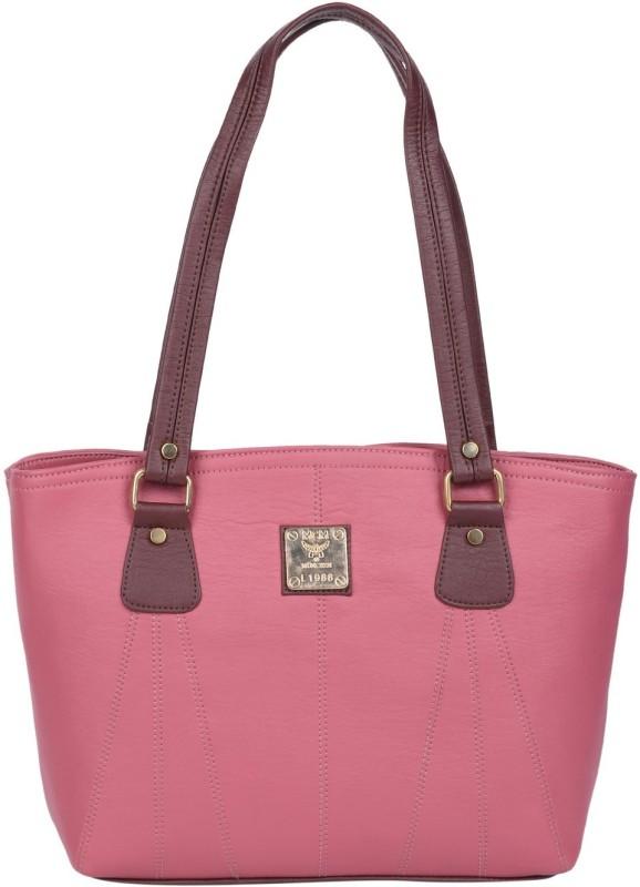 Hiva Purse H1254 Shoulder Bag(Pink, Brown, 3 L)