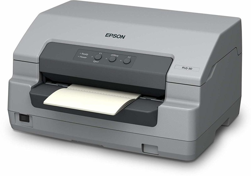 Epson PLQ-30_Passbook_Printer Multi-function Color Printer(White, Ink Cartridge)
