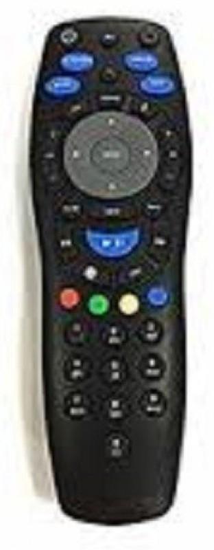POOJA COMPATIBLE REMOTE TO NEW SLIM BODY STB TATA SKY Remote Controller(Black)