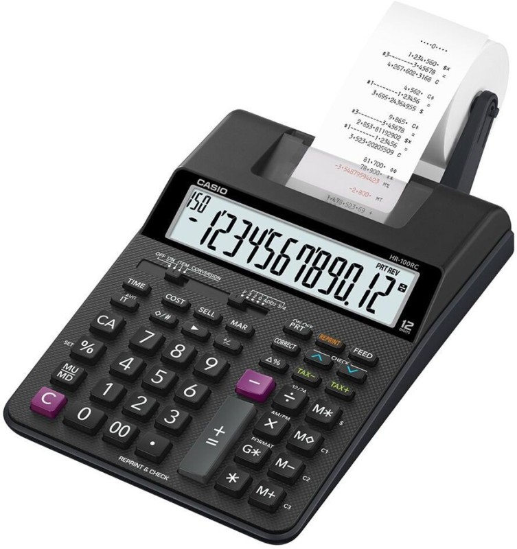 Casio HR-100RC Printing  Calculator(12 Digit)