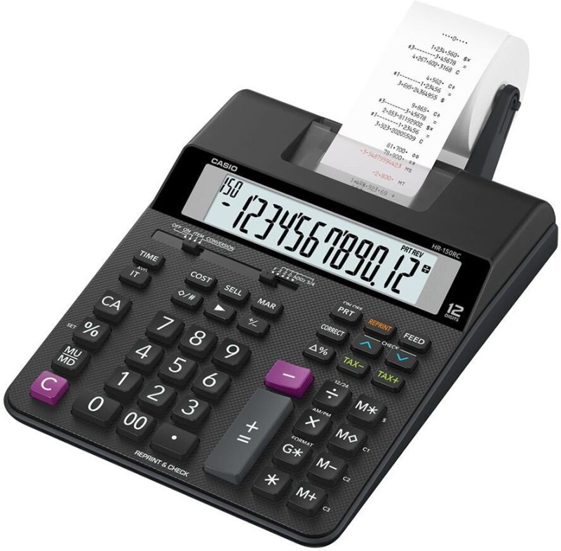 Casio HR-150RC Printing  Calculator(12 Digit)